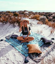 Wandering Folk picnic rugs available now https://bohemiandiesel.com/shop/wandering-folk/