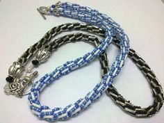 bugle beads. Turkish loops