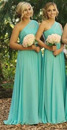NEW One Shoulder Chiffon Bridesmaid Evening Dress Party Ball Prom Gown