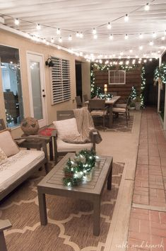 Rustic Decor Ideas for Modern Home 2019 similar layout plantation shutters on outdoor windows in backyard The post Rustic Decor Ideas for Modern Home 2019 appeared first on Patio Diy. Decorating With Christmas Lights, House Design, House, Home, Patio Lighting, Backyard Decor, Patio Decor, New Homes, Backyard Living