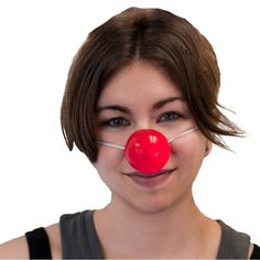 """Privateislandparty.com Blinking Clown Nose 1635 $2.99 linking Clown Nose - This red nose lights up and blinks. It's perfect for a Rudolph, Zero, or clown costume. Blinking Clown Nose measures approximately 1 3/4"""" mounted on an 12"""" elastic strap. Batteries are included!"""