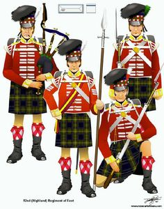 The Battle of Waterloo on June the battle that ended the dominance of the French Emperor Napoleon over Europe; British Army Uniform, British Uniforms, British Soldier, Waterloo 1815, Battle Of Waterloo, Military Art, Military History, Military Uniforms, Tartan