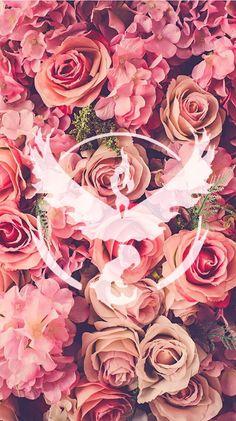 Team Valor, Pokemon Go, Pokemon, roses, floral, wallpaper, background, girly