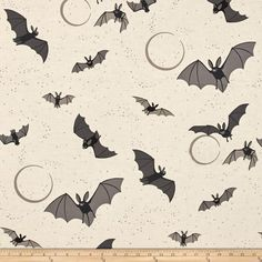Alexander Henry Haunted House Bellatrix The Bat Natural from @fabricdotcom Designed by De Leon Design Group for Alexander Henry, this cotton print fabric is perfect for quilting, apparel and home decor accents. Colors include black, grey and natural.