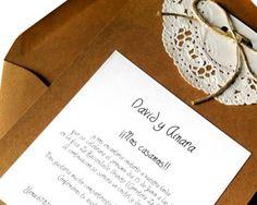 Invitaciones de boda con mucho estilo