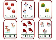 Christmas-themed counting clip cards for your French classroom!