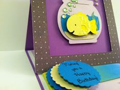 Fishing you a Happy Birthday! Easel card tutorial.