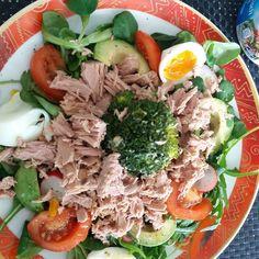 Almoço de hj: salada de atum #desafio30dias #mamaefitem2017