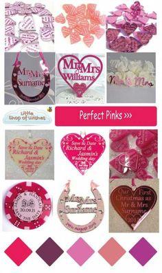 Lilac Glitter Love Hearts /& Organza Bag Table Confetti Card Making