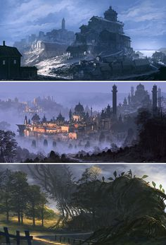 Landscapes The last one is kind of like Jack and the Giant Beanstock