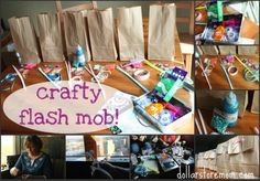 Fun activity to spring on your friends - crafty flash mob