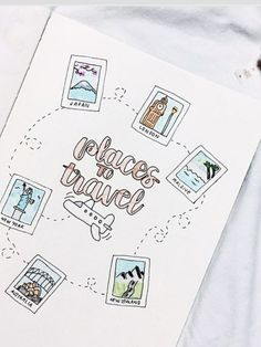 travel idea inspiration bullet journal travel wish list This could be a really cute travel journal inspiration page. Bullet Journal Voyage, Journal D'inspiration, Bullet Journal Travel, Bullet Journal 2019, Bullet Journal Hacks, Bullet Journal Notebook, Bullet Journal Aesthetic, Journal Themes, Bullet Journals