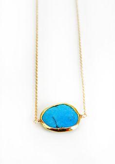 TURQUOISE bezel necklace by shopkei on Etsy, $45.00