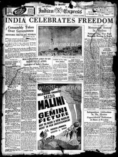 Newspaper Background, Newspaper Front Pages, Vintage Newspaper, Newspaper Layout, History Of India, World History, Happy Independence Day India, Punjabi Culture, India Facts