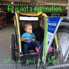 @ Cincinnati Bike Center.  Fit is a way of life!  Be active!