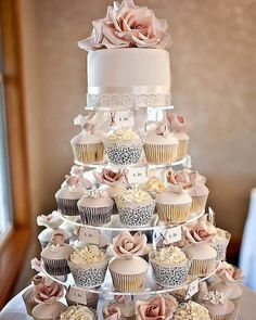 "Do you? I do!! Take all with ""I do"" tops and all without it What beautiful #weddingcake don't you agree? . . . #wedding #weddings #cupcakes #cupcakecake #weddingideas #weddinginspiration #weddinginspo #blushwedding #weddingcupcakes #inspiremeweddings #bride #brides #bridetobe #bridetobe2017 #weddingidea #weddinginspirations . . ."