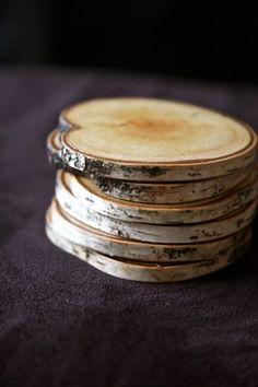 7 Cheap Homemade Gifts - Broke & Healthy | Broke & Healthy....coasters maybe personalize with a wood burning tool.