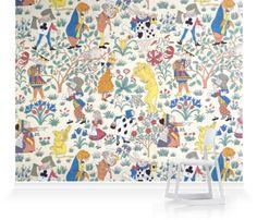 Alice In Wonderland Mural #decorbuddi #muraldesign #magical #childrensinteriors