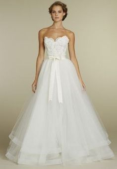 Lace and Net Strapless Sweetheart Neckline 2 in 1 Ball Gown W2621  $279.99