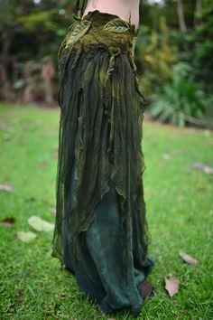 Nuno Felt Chiffon Melted Pixie Woodland Nymph Forest Fairy by frixiegirl