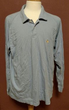 Men's Brooks Brothers 346 Long Sleeve Polo Shirt Light Blue Size XXL #BrooksBrothers #PoloRugby
