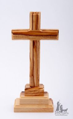 Wood Standing Cross. 15cms.Wooden Cross. Cross Made from Wood. Holy Land Cross. Olive Wood Cross form Holy Land. - CRS074 Zuluf