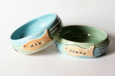 Pet Bowl Custom Cat Food Bowl  Personalized with by MissPottery, $28.00