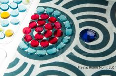 Exploring Spacial Patterns on the Light Panel | Activities For Children | Playing with Light, Rainy Day Play | Play At Home Mom