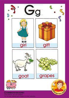 Preschool and Kindergarten Alphabet & Letters Worksheets Letter P Activities, Kindergarten Worksheets, Preschool Activities, Alphabet Worksheets, Letters For Kids, Alphabet For Kids, Alphabet Letters, G Words, Teaching Letters