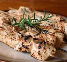 Rosemary Ranch Chicken Kabobs - We love this recipe and make it a lot. We use chicken breasts and put the marinade over them and bake it at 350 for 30 minutes or so. We cut back on the old but everything else is the same.