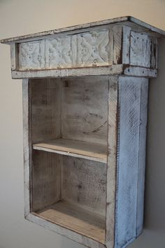 Primitive bookshelf Wall shelf French Country by LynxCreekDesigns