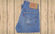 Vintage Levis 501 Straight Leg Denim Jeans Mens UK Blue W30 L30 by BlackcatsvintageUK on Etsy