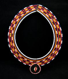 Necklace | Maasai people of Kenya | Wire and glass beads | ca. 1950s/70s