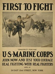 Marine Corps recruitment poster