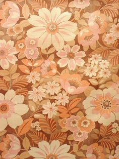 Vintage pink floral wallpaper with a shinny effect. This retro floral wallpaper with pink colors will set a lively and bright ambiance in your interior.