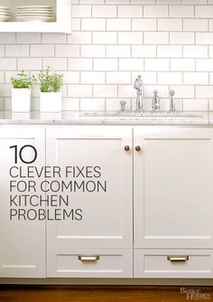 Clever Fixes for Common Kitchen Problems Via Better Homes and Gardens - Problem: Stinky Drain Pinning for the clever under cabinet sink drawersVia Better Homes and Gardens - Problem: Stinky Drain Pinning for the clever under cabinet sink drawers Kitchen Inspirations, Kitchen, Home, Kitchen Organization, Kitchen Design, Cleaning Hacks, Kitchen Remodel, House Cleaning Tips, Clean House
