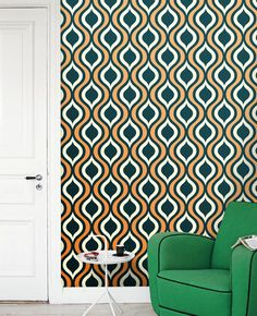 Removable selfadhesive colourful vinyl Wallpaper by PatPrintbyAmy, $36.00