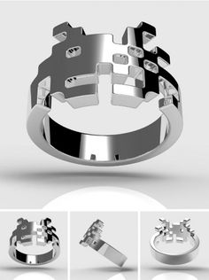 Sterling-Silver-Space-Invader-Ring