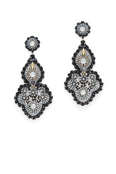 Rent Smoky Onyx Statement Earrings by Miguel Ases for $65 only at Rent the Runway.