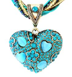 turquoise heart.... See more at: LetsBuyJewelry.com