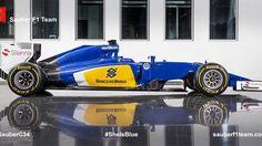 Zebra, carro 'brasileiro' e Force India diferente; veja as máquinas da Fórmula 1 para a temporada 2015 _ Sauber apresentou nesta sexta o C34-Ferrari, seu carro para a temporada 2015 da F-1
