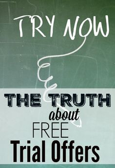 The TRUTH about FREE Trial Offers