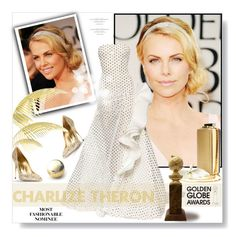 """Golden Globes 2016: Charlize Theron"" by desert-belle ❤ liked on Polyvore featuring Sebastian Milano and Lanvin"