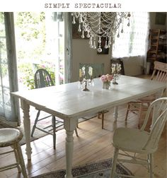 Rachel Ashwell Shabby Chic Couture: lovely set of table and mismmatched chairs