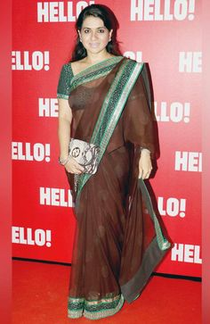 Shaina NC at Hello! magazine's coffee table book launch. #Page3 #Fashion #Style #Beauty #Saree Hello Magazine, Book Launch, Coffee Table Books, Bollywood Celebrities, Celebrity Style, Product Launch, Sari, Fashion Design, Beauty