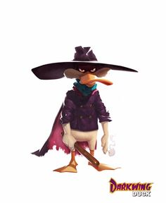 Darkwing Duck, studio mouette on ArtStation at https://www.artstation.com/artwork/darkwing-duck-58e04aff-ad1b-4cca-b340-692ba0199412
