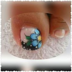 Ideas For Nails Art Facile Pieds Pedicure Nail Art, Pedicure Designs, Toe Nail Designs, Cute Toe Nails, Pretty Nails, Gel Nails, Toenails, French Nails, Cute Pedicures