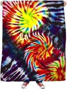 Tie Dye Fleece Blanket