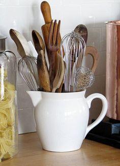 Kitchen Gadgets Organization Utensil Storage Ideas For 2019 Utensil Drawer Organization, Kitchen Utensil Organization, Kitchen Utensil Holder, Kitchen Utensils, Kitchen Storage, Cooking Utensil Holder, Utensil Caddy, Cool Kitchen Gadgets, Diy Kitchen