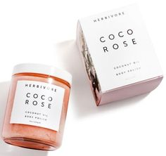 Mother's Day Gift Ideas - Coco Rose Body Polish is a highly moisturizing and gently exfoliating blend of virgin coconut oil and delicately floral Bulgarian Rose Absolute.